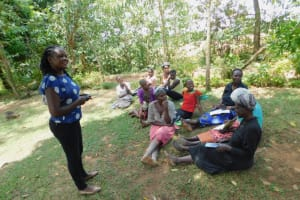 The Water Project: Eshiakhulo Community, Kweyu Spring -  Trainer Adelaide In Action