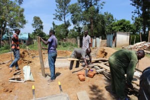 The Water Project: Mayoni Township Primary School -  Latrine Construction