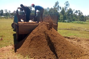 The Water Project: Munyanza Primary School -  Delivering More Sand