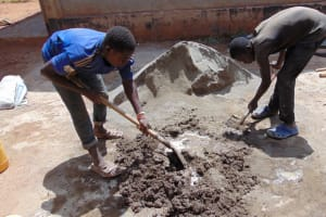 The Water Project: Essongolo Primary School -  Mixing Cement
