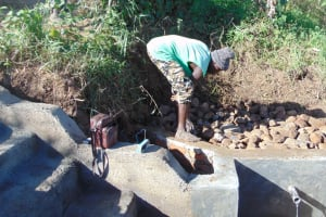 The Water Project: Musango Community, Mushikhulu Spring -  Backfilling