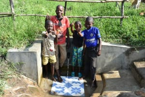 The Water Project: Eshiakhulo Community, Asman Sumba Spring -  Flowing Water