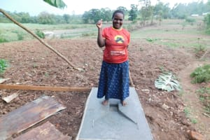 The Water Project: Shihingo Community, Mangweli Spring -  New Latrine Base