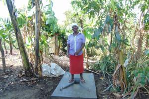 The Water Project: Malava Community, Ndevera Spring -  Finished Sanitation Platform
