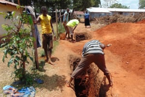 The Water Project: Musasa Secondary School -  Sinking The Latrine Pits
