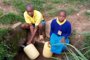 The Water Project: Musasa Primary School -  Fetching Water