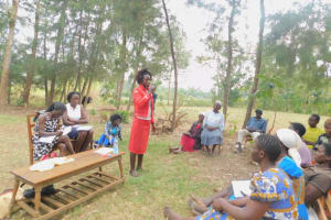 The Water Project: Munenga Community, Burudi Spring -  Dental Hygiene Activity