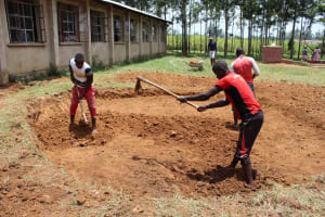 The Water Project: Mayoni Township Primary School -  Tank Foundation Construction
