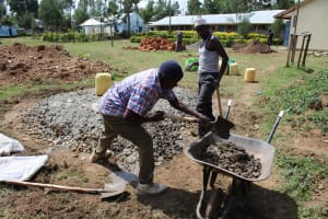 The Water Project: Nambilima Secondary School -  Mixing Cement