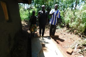 The Water Project: Shisere Community, Francis Atema Spring -  Finished Sanitation Platform