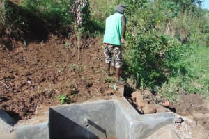 The Water Project: Musango Community, Mushikhulu Spring -  Finishing Touches