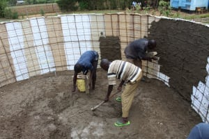 The Water Project: Nambilima Secondary School -  Tank Construction