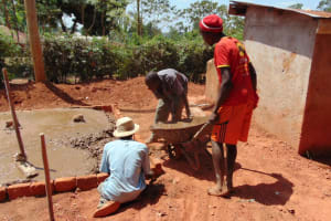 The Water Project: Essongolo Primary School -  Latrine Construction