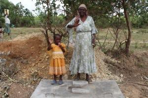 The Water Project: Mukhuyu Community, Kwakhalakayi Spring -  Sanitation Platform