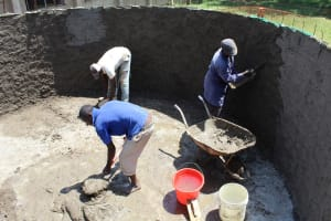 The Water Project: Mayoni Township Primary School -  Tank Construction