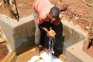 The Water Project: Mutao Community, Shimenga Spring -  Flowing Water