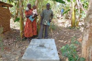 The Water Project: Musango Community, Mushikhulu Spring -  Finished Sanitation Platform