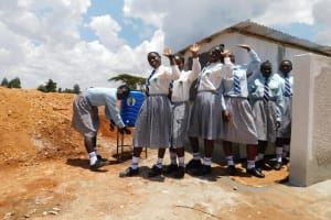The Water Project: Immaculate Heart Secondary School -  New Handwashing Station And Latrines