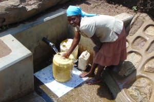 The Water Project: Malava Community, Ndevera Spring -  Flowing Water