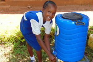 The Water Project: Kima Primary School -  Mercy At A Handwashing Station