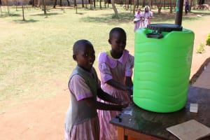 The Water Project: Mayoni Township Primary School -  Washing Hands At The New Station