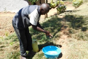 The Water Project: Shihingo Community, Mangweli Spring -  Handwashing