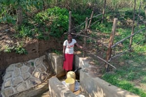 The Water Project: Mukhuyu Community, Kwawanzala Spring -  Flowing Water