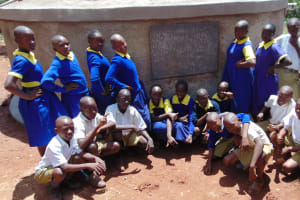 The Water Project: Essongolo Primary School -  Finished Tank