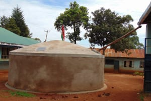 The Water Project: Kima Primary School -  Finished Tank