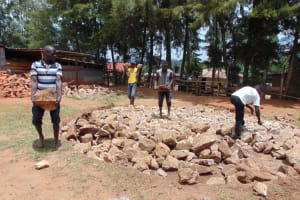 The Water Project: Musasa Secondary School -  Collecting Stones