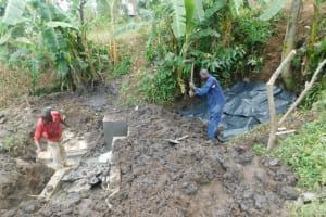 The Water Project: Munenga Community, Burudi Spring -  Hard Work And Progress