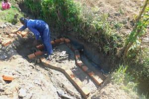 The Water Project: Eshiakhulo Community, Kweyu Spring -  Brick Laying
