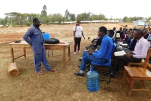 The Water Project: Immaculate Heart Secondary School -  Artisan Talking About The Tank