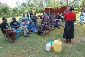 The Water Project: Sichinji Community, Makhatse Spring -  Dental Hygiene Training