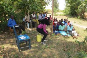 The Water Project: Mukhuyu Community, Kwawanzala Spring -  Water Handling Training