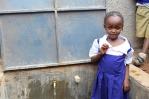 The Water Project: Kima Primary School -  Flowing Water