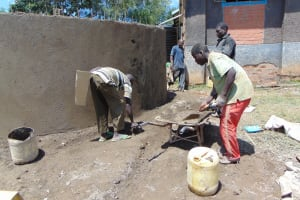 The Water Project: Ibwali Primary School -  Cement Work Continues