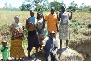 The Water Project: Shihingo Community, Mangweli Spring -  Training Complete