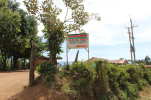 The Water Project: Mukangu Primary School -  Sign Along The Dirt Road