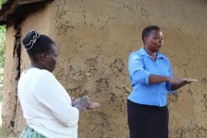 The Water Project: Mukhuyu Community, Kwakhalakayi Spring -  Handwashing Training