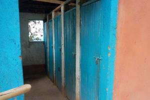 The Water Project: Musasa Primary School -  Kenya Latrine Doors