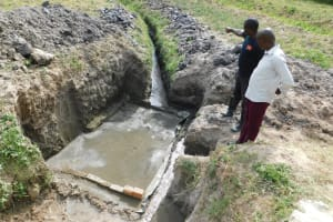 The Water Project: Shihingo Community, Mangweli Spring -  Construction Begins