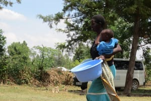 The Water Project: Mukhuyu Community, Kwawanzala Spring -  Bringing Water For Handwashing Training