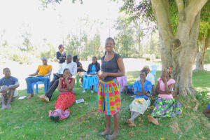 The Water Project: Eshiakhulo Community, Asman Sumba Spring -  Question About Toothbrushing