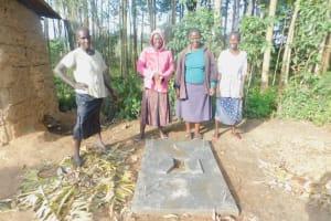 The Water Project: Munenga Community, Burudi Spring -  New Latrine Owners