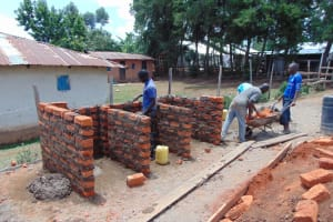 The Water Project: Musasa Secondary School -  Latrine Walls