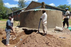 The Water Project: Ibwali Primary School -  Working On The Dome