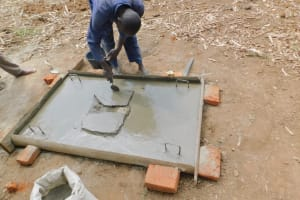 The Water Project: Eshiakhulo Community, Kweyu Spring -  Building A Sanitation Platform