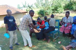 The Water Project: Sichinji Community, Makhatse Spring -  Handwashing Training