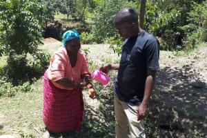 The Water Project: Malava Community, Ndevera Spring -  Handwashing Training